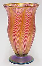 Art glass vase by Lundberg Studios
