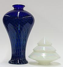 Joe Clearman art glass vase
