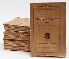(lot of 17) Overland Monthly San Francisco, California, periodicals, starting with  January 1872 issue 42, ending with December 1873...