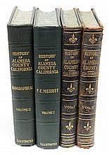 (lot of 4) Books, The History of Alameda County, each set in two volumes, consisting of the 1928 edition by Frank Merritt, and 1914 ...