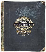 Historical Atlas of Alameda County, California, Thompson and West, 1878, illustrated title page, impressive maps and views of Oaklan...