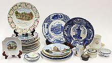 (lot of 25)  Mostly Oakland related advertising and commemorative plates, depicting various landmarks including New City Hall, Taft ...