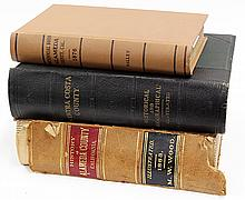 (lot of 3) Alameda and Contra Costa County book group, consisting of History of Alameda County,  M