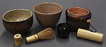 Japanese Three Tea Bowls, Tea Ceremony Items