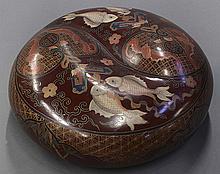 Chinese Lacquer Circular Box