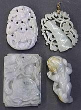Four Chinese Jade Plaques