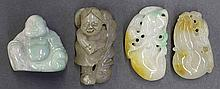 Four Chinese Jade/Hardstone Toggles