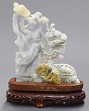 Chinese Jadeite Figural Carving