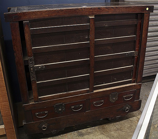 Japanese Tansu Wheeled Chest Kuruma Dansu, 19c