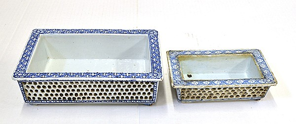 Chinese Blue-and-White Bulb Containers