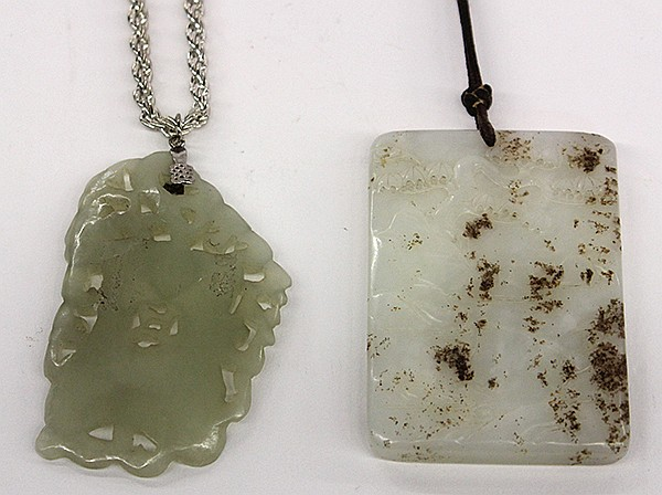 Two Chinese Jade Toggles