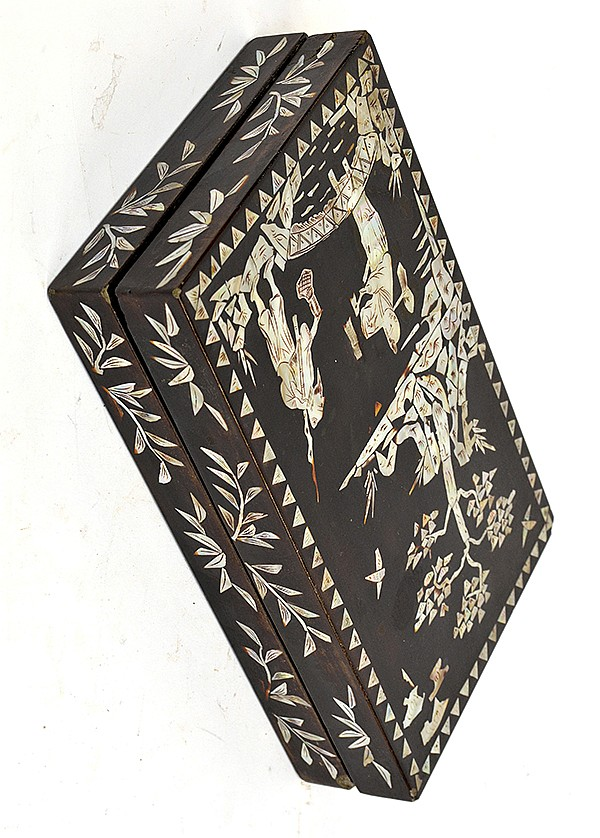 Chinese Lacquer Box with Mother-of-Pearl Inlays