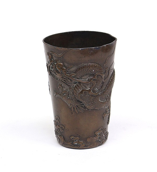 Japanese Bronze Dragon Cup
