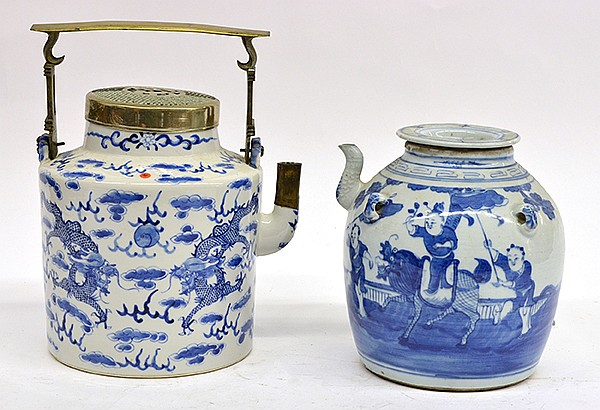 Chinese Underglazed Blue Teapots