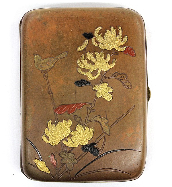 Japanese Cigarette Case with Inlay, Meiji/Taisho
