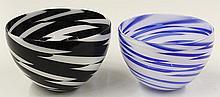 James Nowak art glass bowls