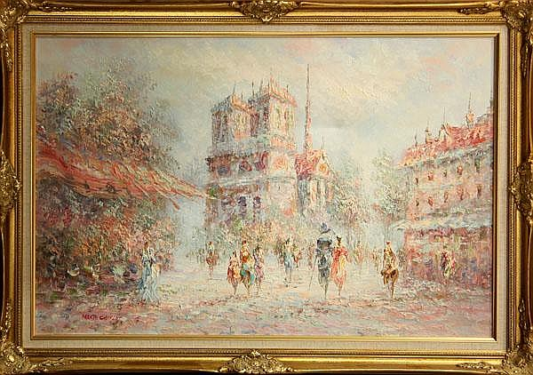 Paintings, Parisian Street Scenes
