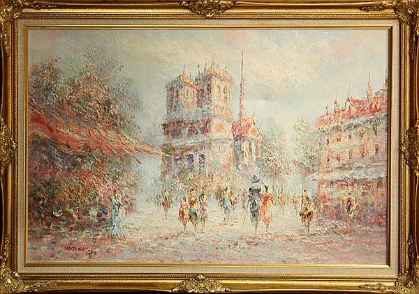 Paintings, Parisian Street Scenes