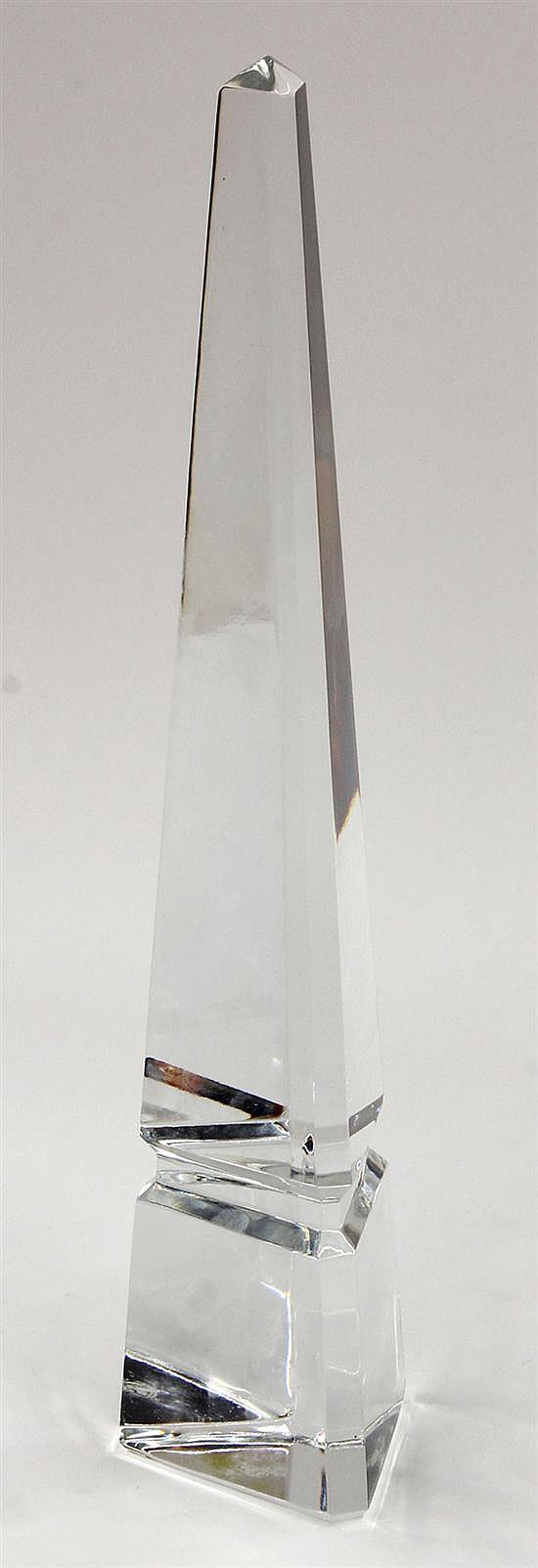 Baccarat crystal obelisk