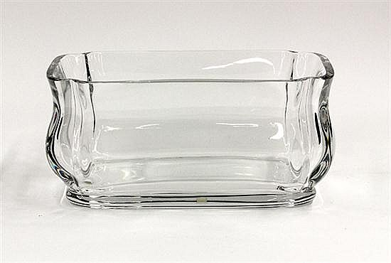 Baccarat crystal console bowl