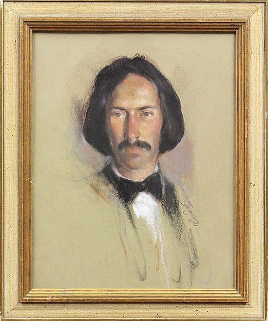 Pastel, Anthony Frederick Sandys, Portrait Gentleman
