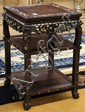 Chinese Inlaid Tiered Wood Export Stand