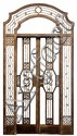 French Art Deco Edgar Brandt style hand wrought  entry way