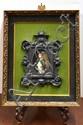 Framed porcelain portrait miniature of Napoleon Bonaparte