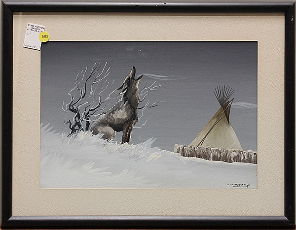 Painting, White Buffalo, attributed to William Lee Hill