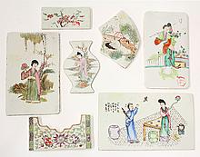 Seven Chinese Porcelain Plaques