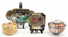 Japanese 19c Porcelain,Kyo-Satsuma, Imari,  Old Ao-Kutani