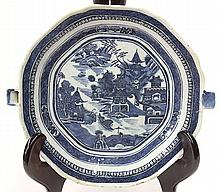 Chinese Blue and White Warming Dish