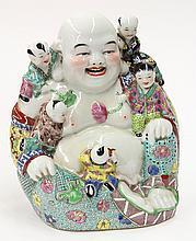 Chinese Porcelain Budai and Children