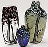 Art glass vase group