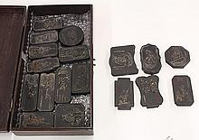 Set of 18 Chinese Ink Cakes