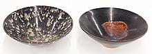 Two Chinese Dark Glazed Bowls