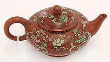 Chinese Enamel Yixing Tea Pot