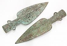 Two Chinese Archaistic Spearheads