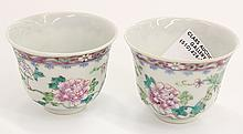 Chinese Enameled Porccelain Cups