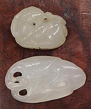Two Chinese Jade/Hardstone Toggles