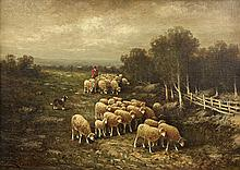 Painting, Lyell Carr, Tending the Flock