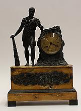 Classical style patinated bronze mantle clock