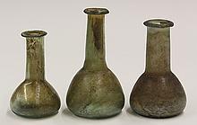 Roman mouth blown glass group
