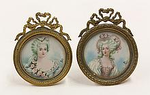 Continental miniature portrait paintings on ivory