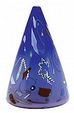 Richard Marquis Noble Effort conical blown glass vessel