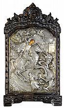 Greek icon, depicting St.George the Dragon Slayer