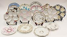 American and Continental style oyster plates