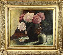 Painting, Still Life of Flowers in a Vase