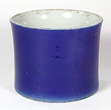 Chinese Blue Porcelain Brush Pot