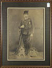 Print, Portrait of a Huntsman with his Hounds